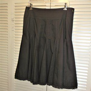 Cabi Choclate Brown gores Tier bottom  midi Skirt